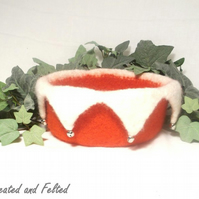 Felt Christmas Festive Bowl Pattern