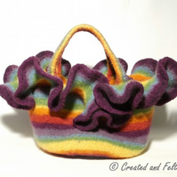 Rainbow Felt Market Bag