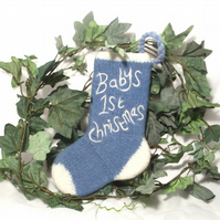 Baby's First Felt Christmas Stocking Pattern Personalised