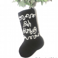 Bah Humbug  Felt Christmas Stocking Pattern