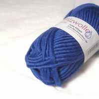 Blue Felting Wool Yarn Uni 12