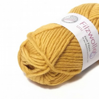 Yellow  Felting Wool knitting Yarn Uni 55