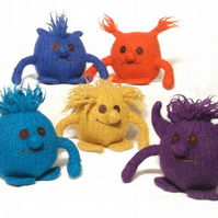 5 Felt Monsters toy knitting pattern