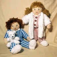 Time for Bed  Josie and Jesse Dolls - Knitting Pattern