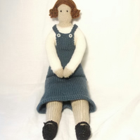Milly Tilde style knitted doll pattern
