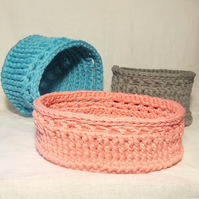 Tidy Up Baskets - Crochet Pattern