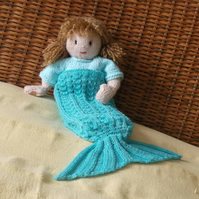 Josie Doll's Mermaid Blanket knitting Pattern