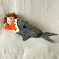 Shark Attack! Dolls Blanket knitting Pattern