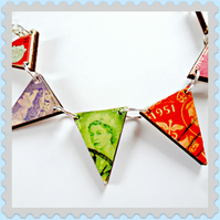 bunting necklace wood the queens jubilee