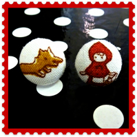 little red hood and the wolf cute little stud earrings