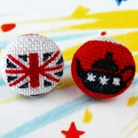 British tea union jack stud earrings