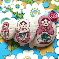 russian stacking dolls adorable brooch