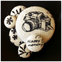 happy memory the photographer vintage camera brooch