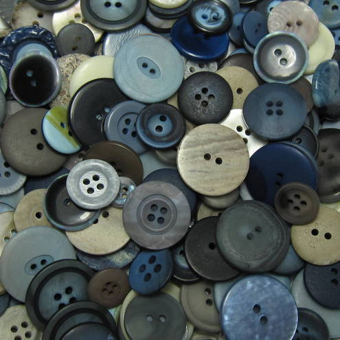 50g Mixed Buttons: STORM