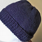Navy Beanie in Guernsey Oiled wool, Hand Knitted