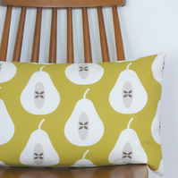Mustard Yellow Pear cushion cover