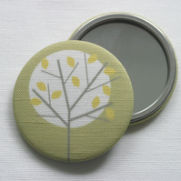 Moonlight Tree Fabric Pocket Mirror
