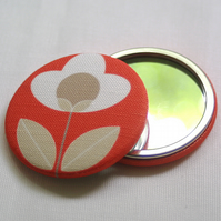 Tulip Fabric Pocket Mirror