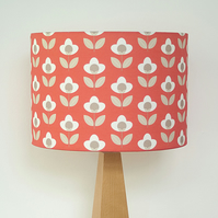 Tulip drum lampshade - Red