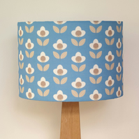 Tulip drum lampshade - Blue