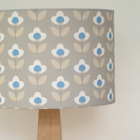 Tulip drum lampshade - Grey