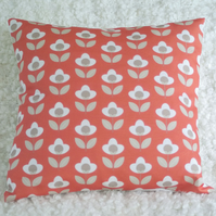 Tulip cushion cover Red