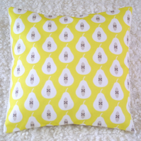 Yellow Pear Print cushion cover