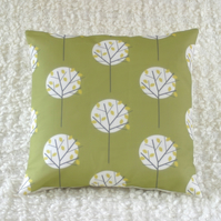Moonlight Tree cushion Olive Green