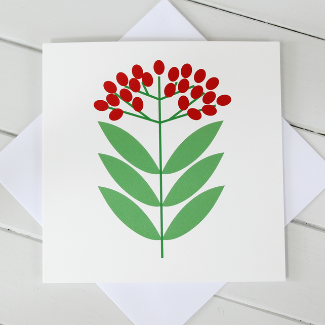 Scandi Christmas Berries Cards - Set of 4