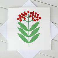 Scandi Christmas Berries Card