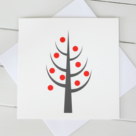 Scandi Christmas Tree Cards - Set of 4