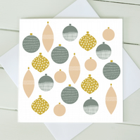 Scandi Christmas Baubles Cards