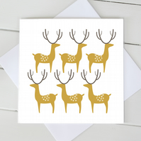 Scandi Christmas Reindeer Cards - Set of 4