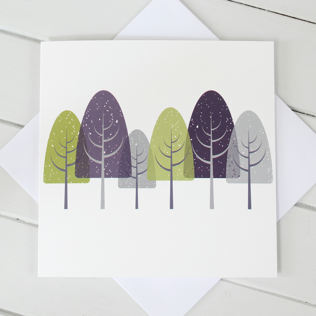 'Winterwood' Blank Greetings Card