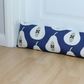 Indigo Blue Pear Fabric Draught Excluder