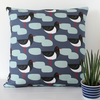 Oystercatcher Bird Fabric Cushion