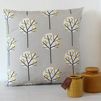 Moonlight Tree cushion cover Stone Grey