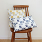 Mod Flower Indigo Blue Fabric Cushion