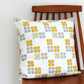 Mod Flower Mango Yellow Fabric Cushion