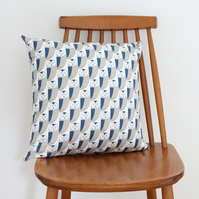 Owl print Bird Fabric Cushion