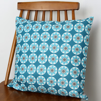 Daisy Daisy Blue Fabric Cushion
