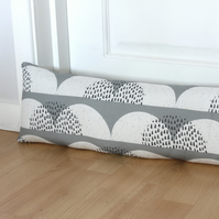 Grey Cloud Fabric Draught Excluder