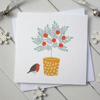 Xmas Berries Garden Christmas Card