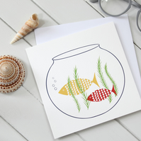 'Goldfish Bowl' Blank Greetings Card