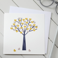 'Love Blossom' Blank Greetings Card