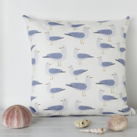 Harbour Gulls Fabric Cushion