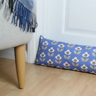 Blue Tulip Fabric Draught Excluder