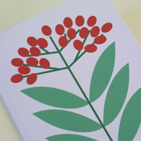 Elderberry Card Festive Red