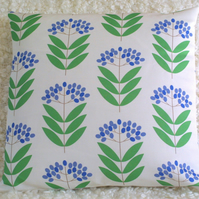 Blue Elderberry cushion cover