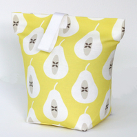 Yellow Pear Fabric Door Stop